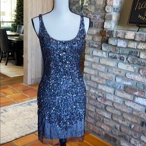 Adrianna Papell NWT beaded sleeveless gown. CHIC!